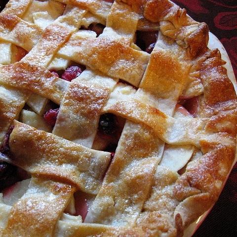 Recipes Course Desserts Pies Apple Cranberry Pie