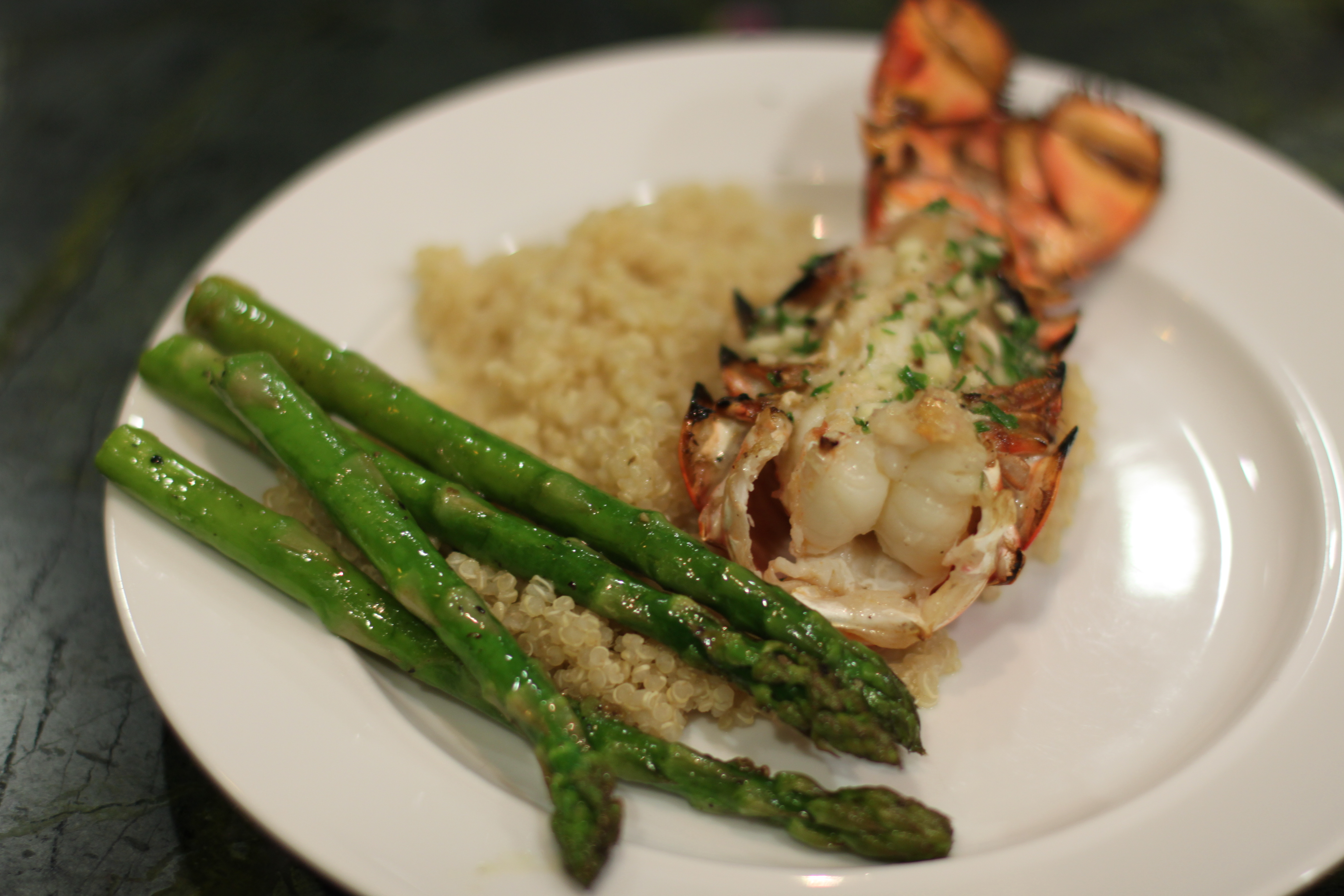 ... Fish and Shellfish Awesome Grilled Lobster Tails with Seasoned Butter