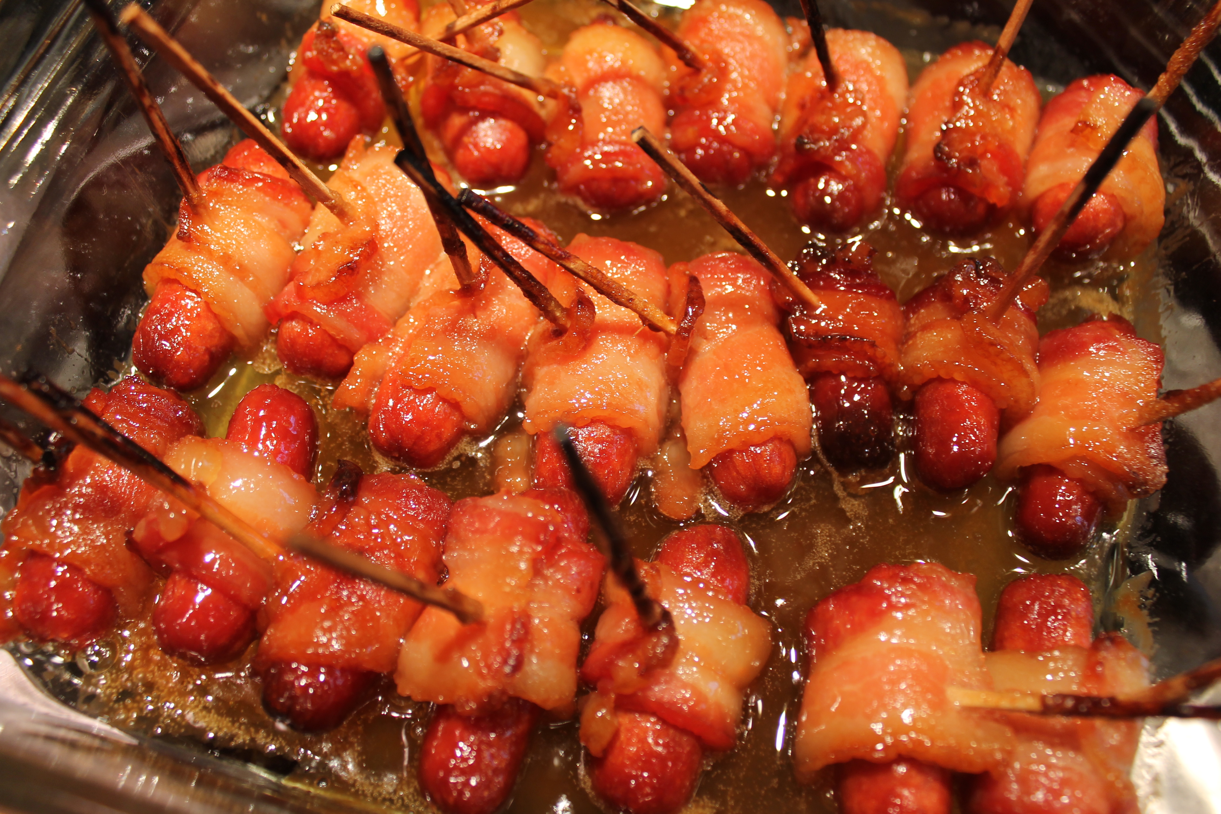 ... Breakfast-Brunch Bacon Wrapped Smokies with Brown Sugar and Butter