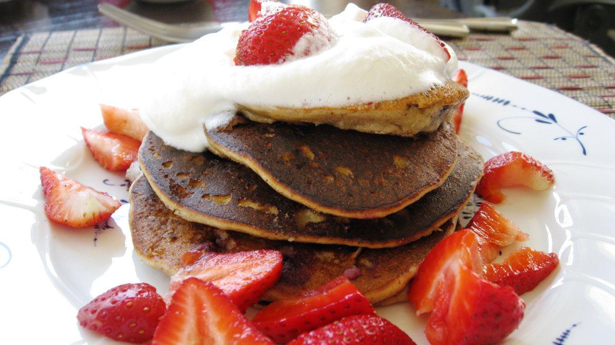Banana Blueberry Almond Pancakes - BigOven 180187