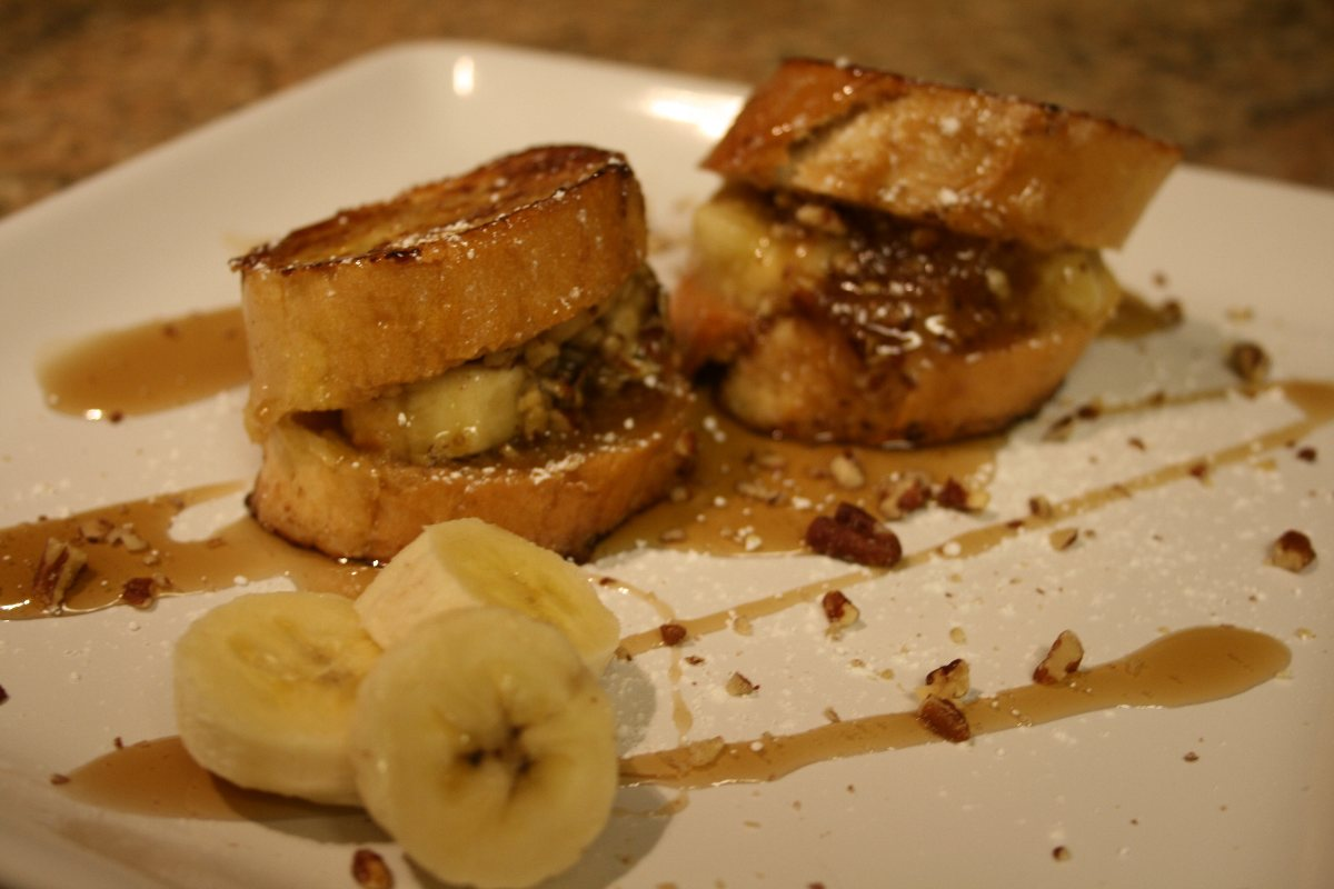 stuffed french toast banana stuffed french toast on the panini grill ...