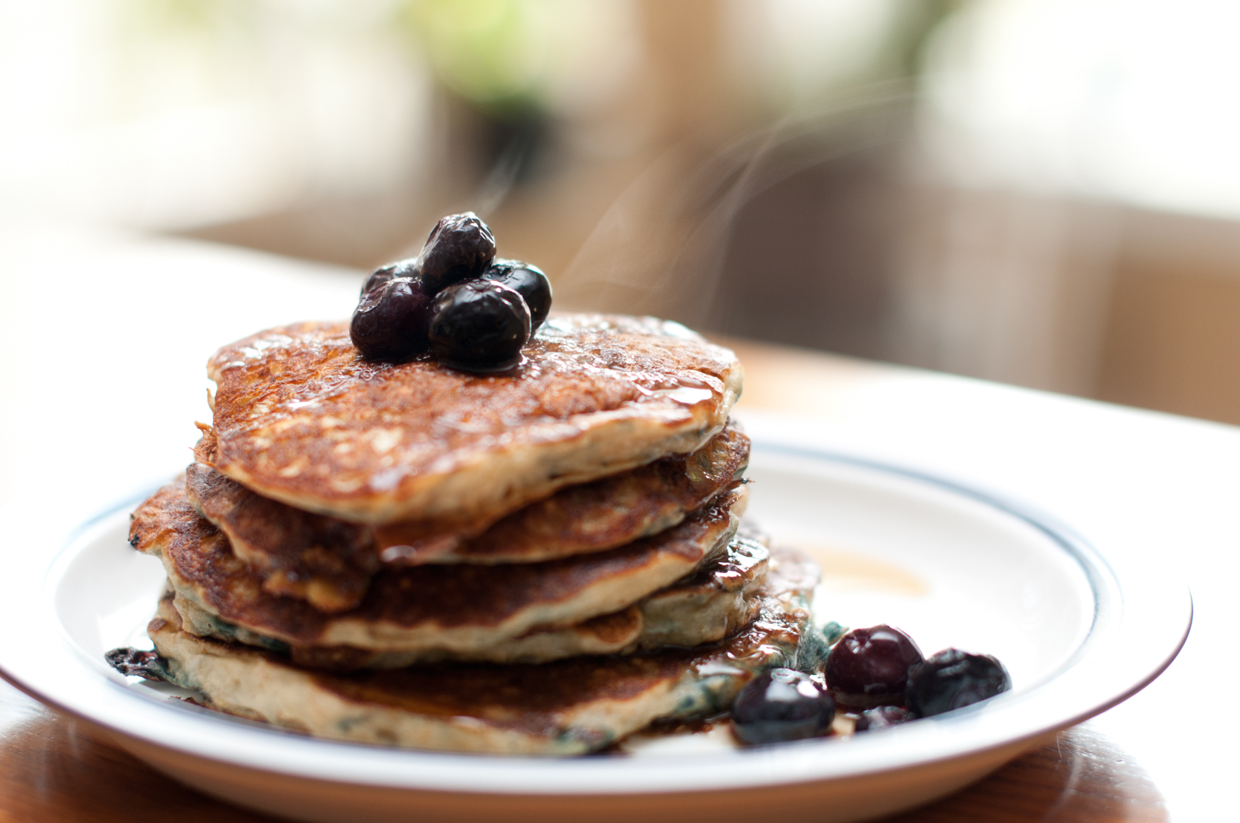 Recipes Course Breakfast Pancakes Blueberry Oatmeal Pancakes