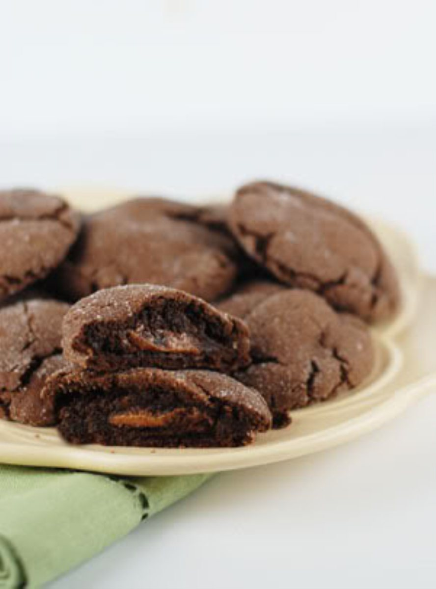 Recipes Course Desserts Cookies and Bars Brownie Like Rolo Cookies