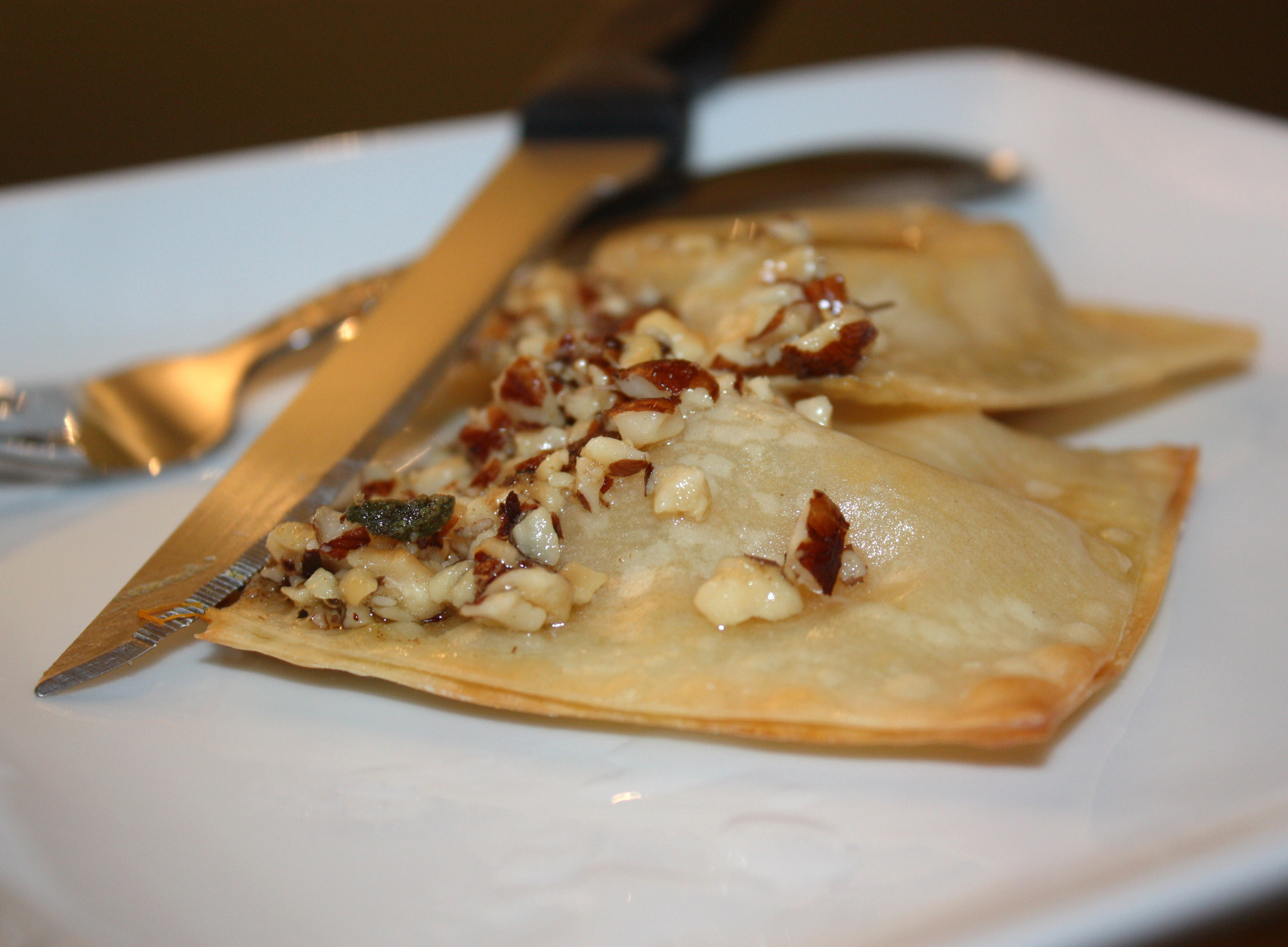 Butternut Squash, Sage, and Goat Cheese Ravioli with Hazelnut Brown ...