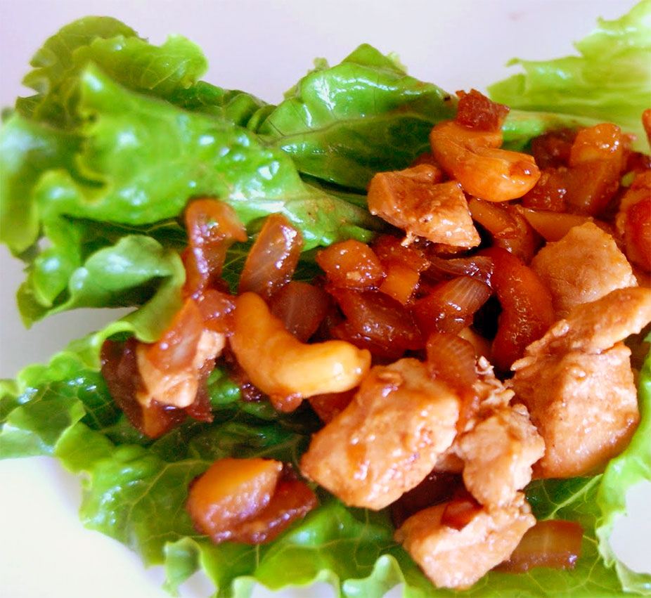 ... Sandwiches and Wraps Cashew Chicken Lettuce Wraps (Like PF Chang's