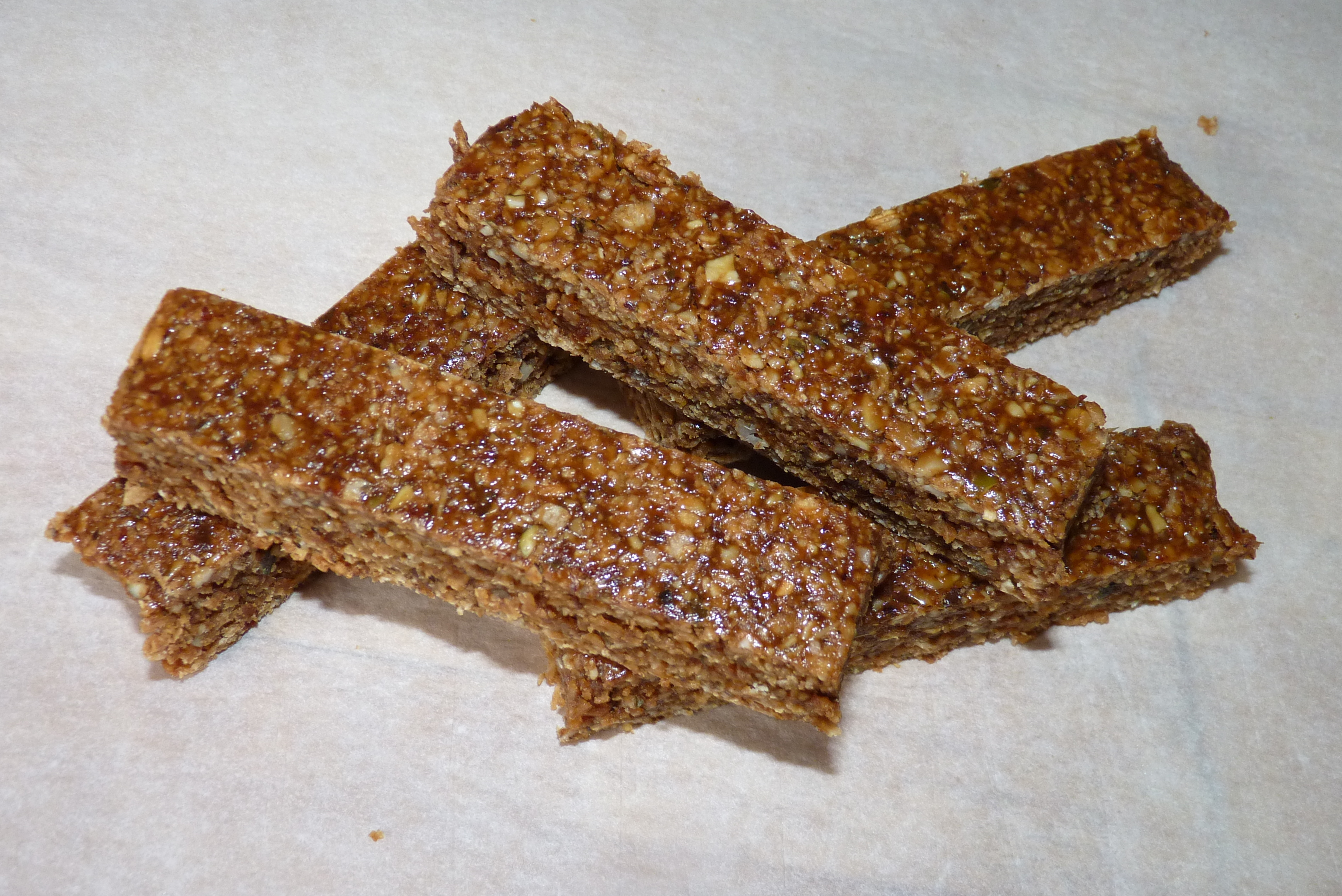 ... Desserts Cookies and Bars Chewy Oat, fruit and seed bars flapjacks
