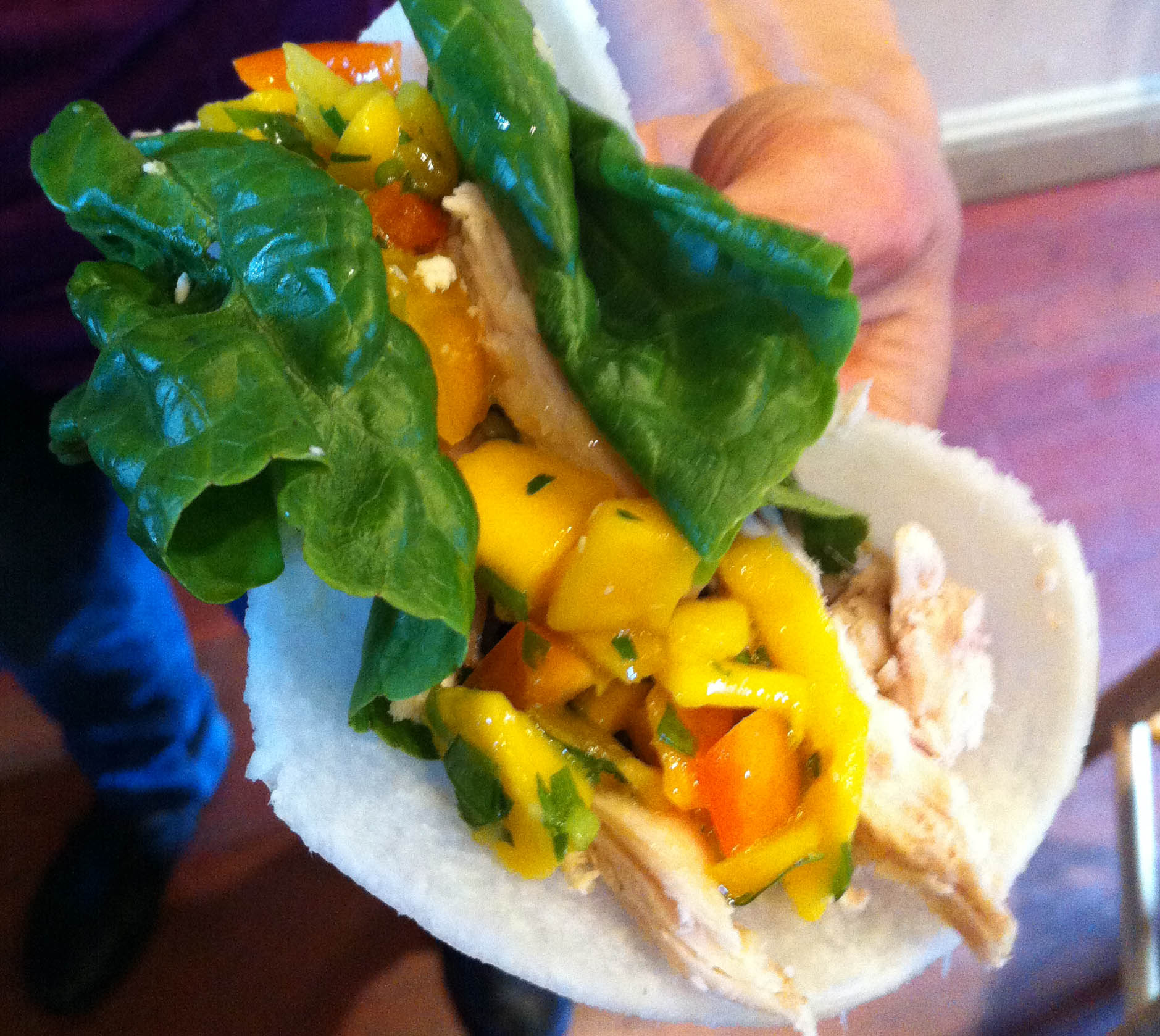 Cilantro Lime Chicken Tacos With A Mango And Black Bean ...