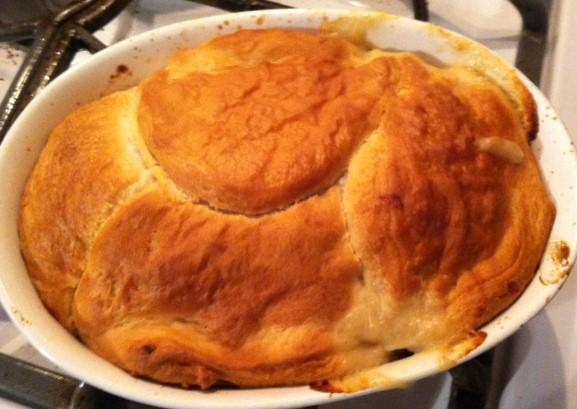 ... Dish Poultry - Chicken Chicken or Turkey Pot Pie with Biscuit Crust