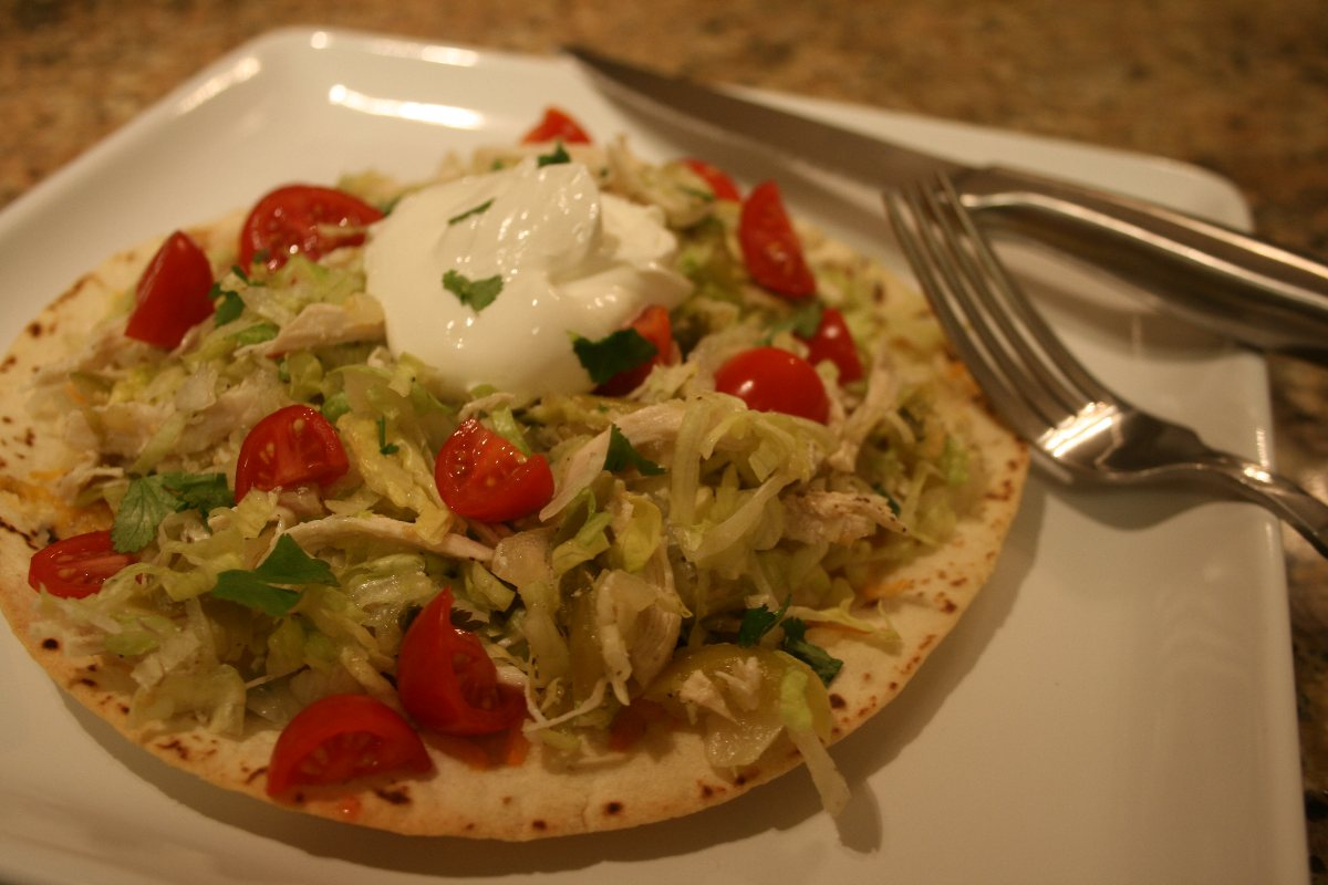 Recipes Course Salad Salads - Other Chicken Tostada Salad with Salsa ...