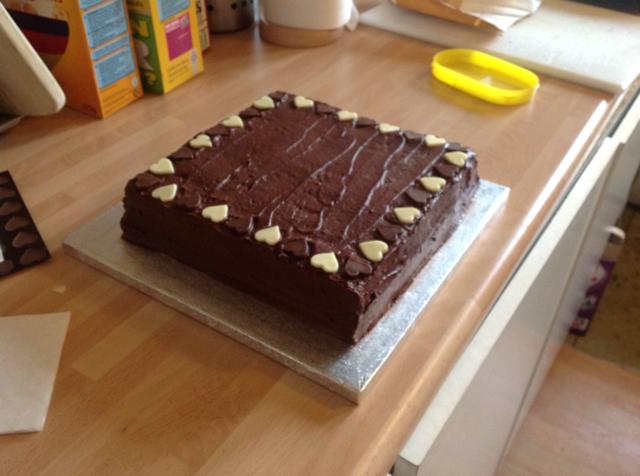 Rum Square Chocolate Cake