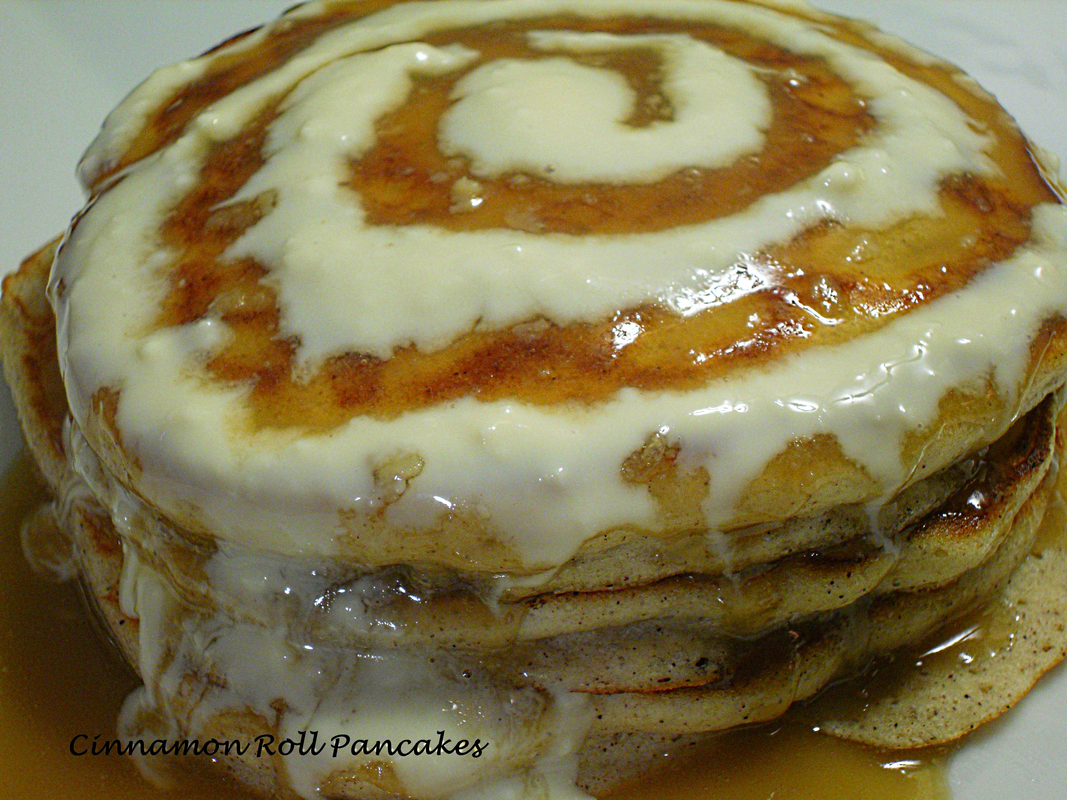 Recipes Course Breakfast Pancakes Cinnamon Roll Pancakes