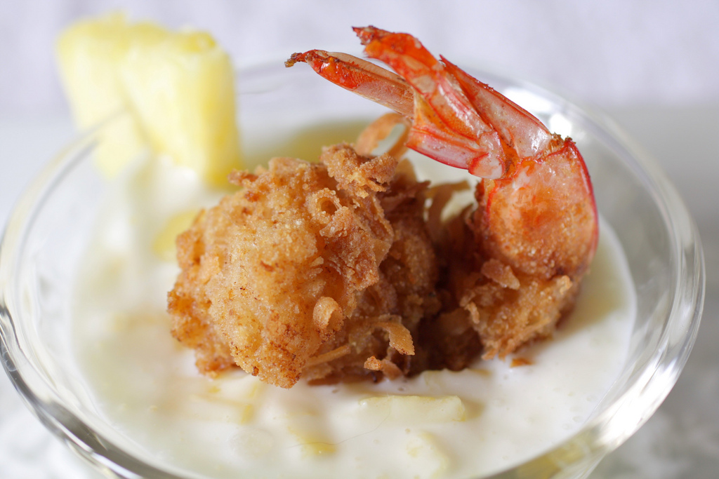 ... Appetizers Seafood Coconut Shrimp with Pina Colada Dipping Sauce