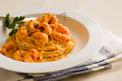 Recipes Course Main Dish Pasta Crawfish and Seafood Pasta with Cream