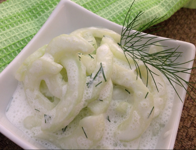 ... Course Appetizers Pickles Cucumbers in Sour Cream with Fresh Dill