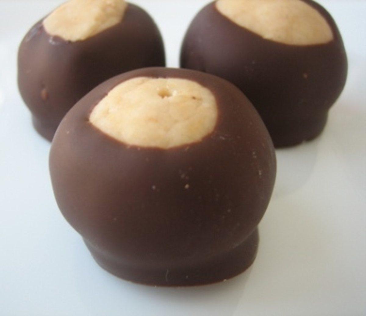 ... Desserts Cookies and Bars Debbies Buckeyes (peanut butter balls