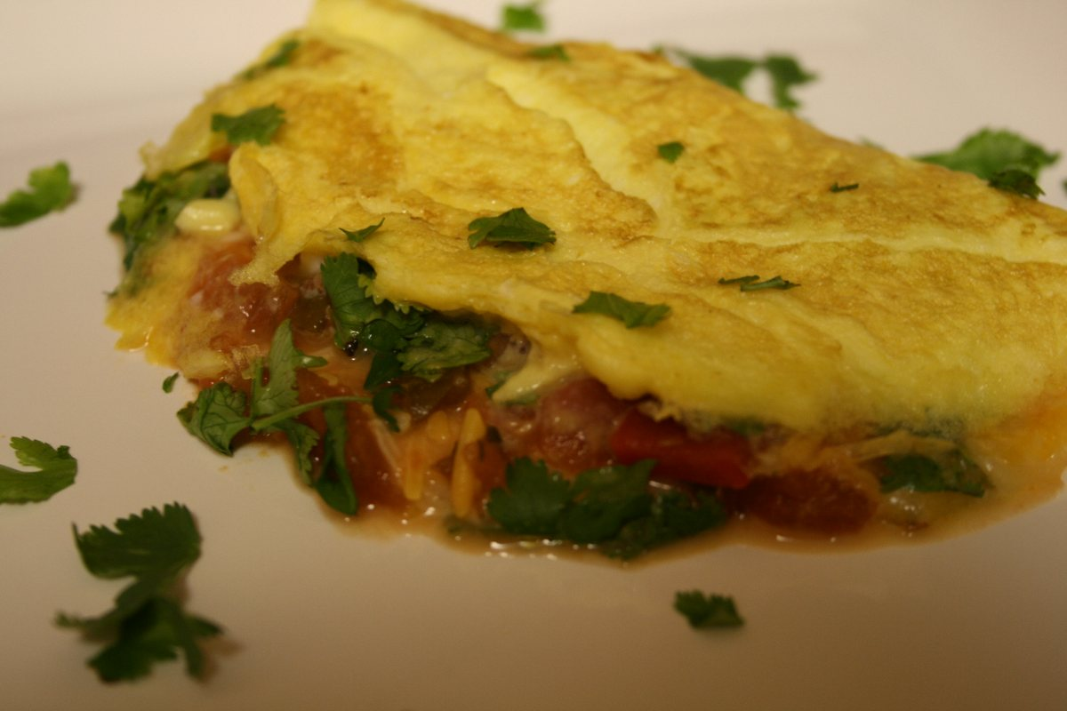 Recipes Course Easy Southwestern Omelet