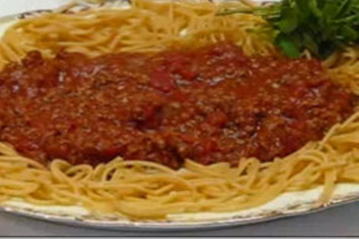 Recipes Course Main Dish Pasta Easy Spaghetti with Homemade Meat Sauce