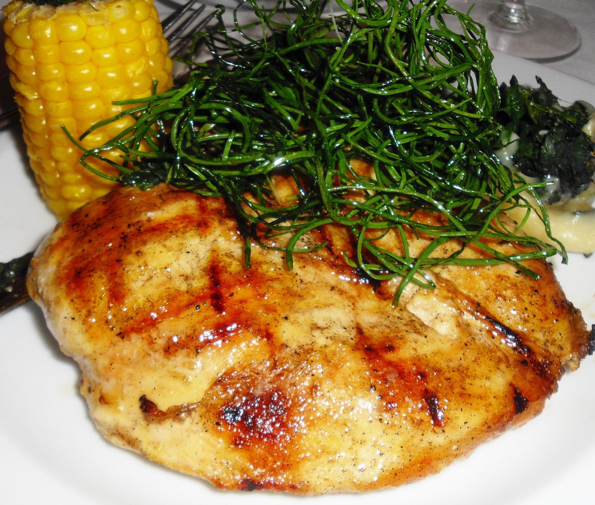 ... Course Main Dish Poultry - Chicken Garlic-roasted Chicken Breasts