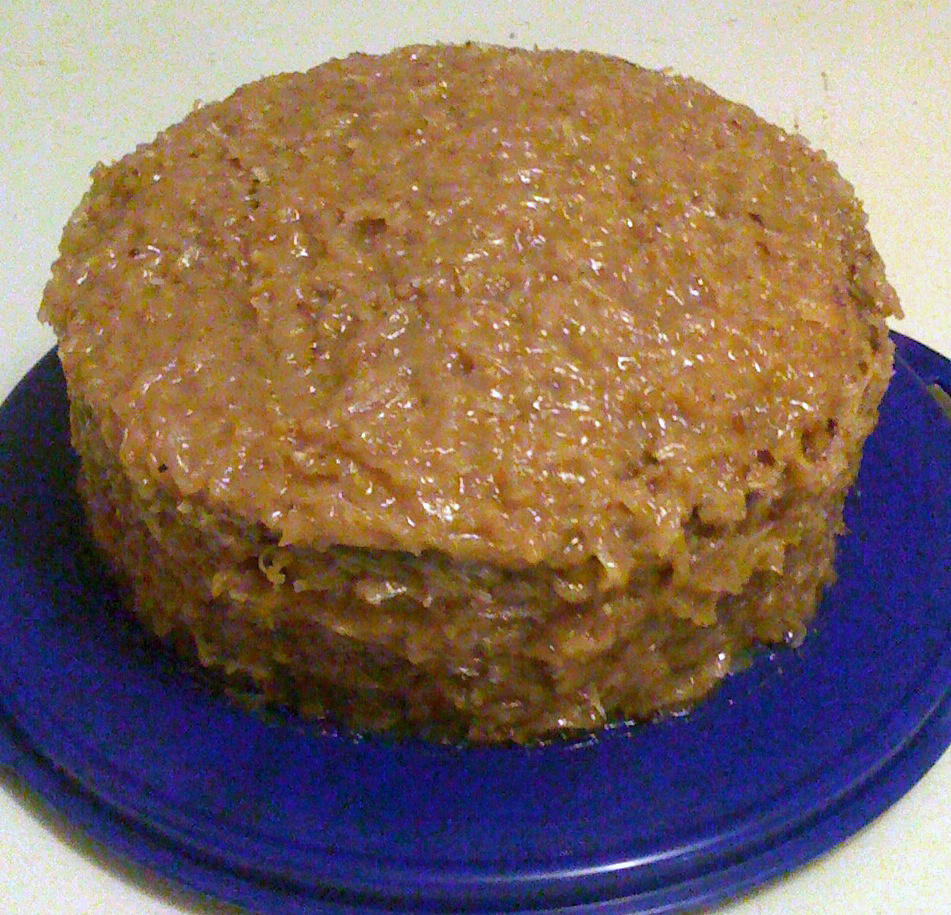 German Chocolate Cake with Coconut-pecan Frosting - BigOven 183855