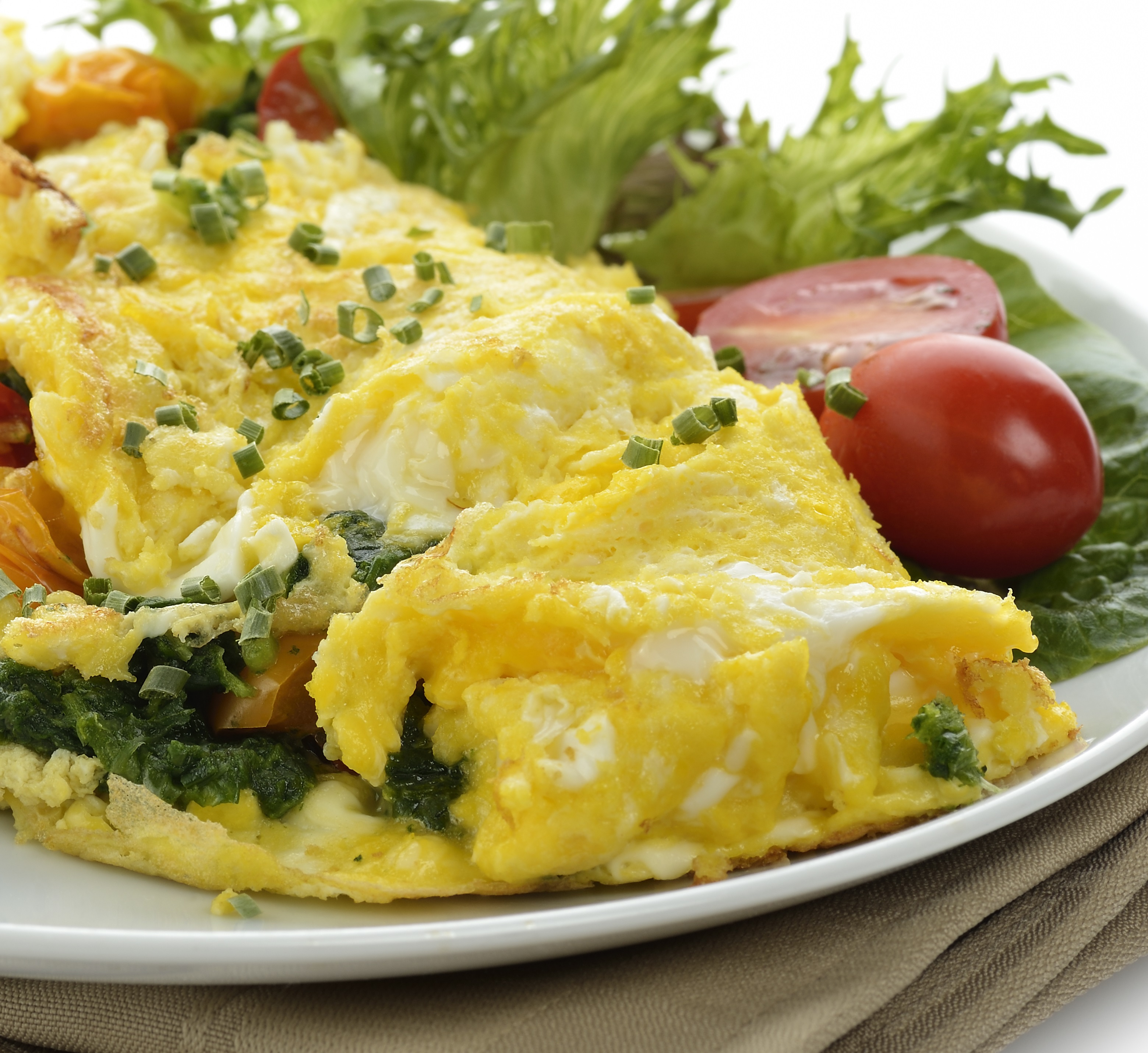 ... Breakfast Egg Dishes Greek Potato Spinach And Feta Cheese Omelet