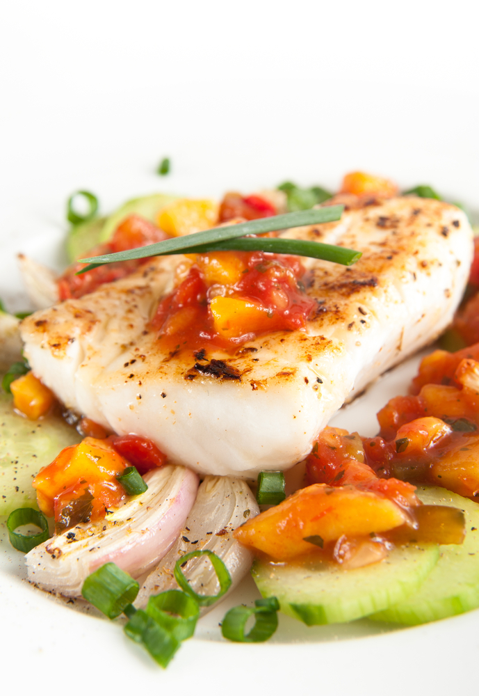 grilled hawaiian fish with papaya relish bigoven 94110