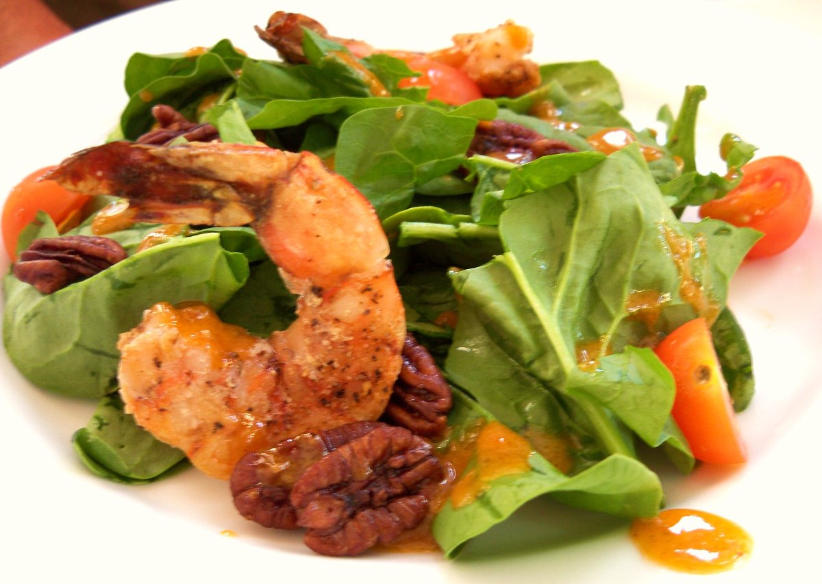 Grilled Radicchio and Romaine Salad with Grilled Shrimp and Mango ...