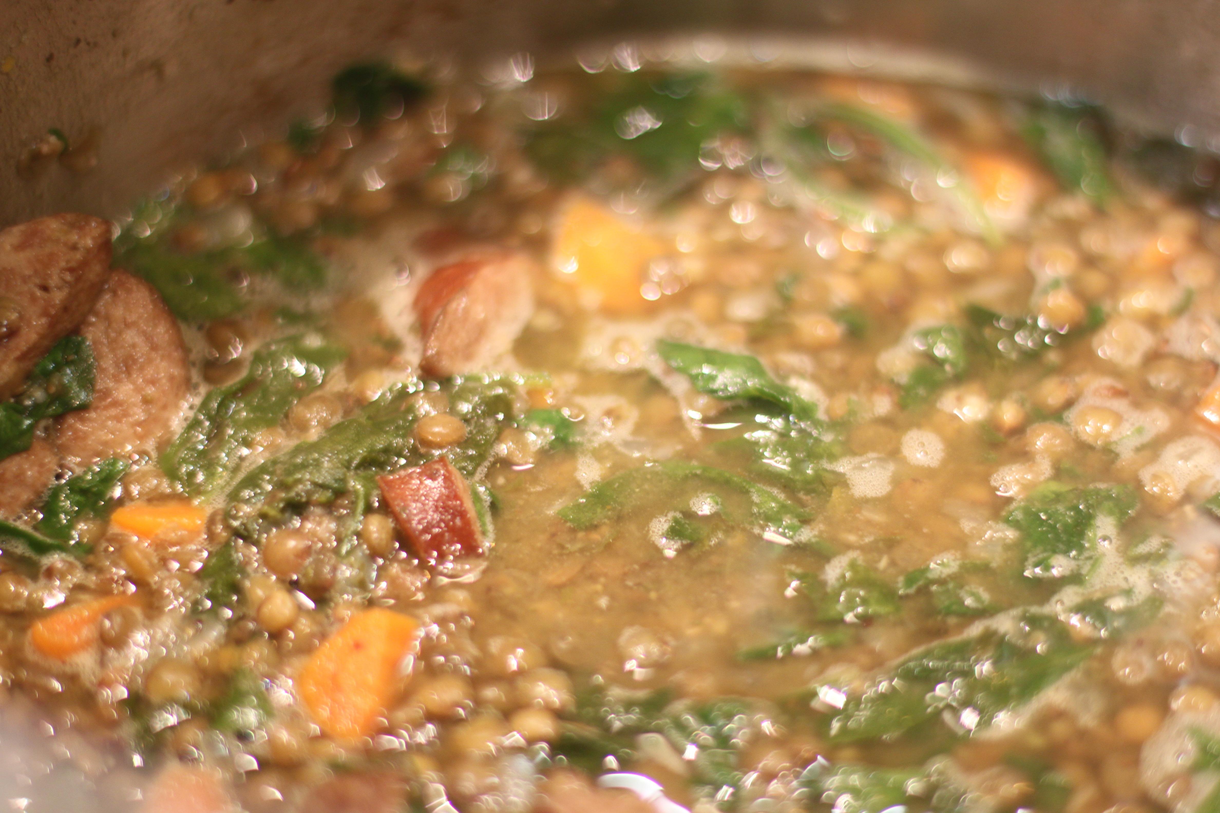 ground beef lentil soup