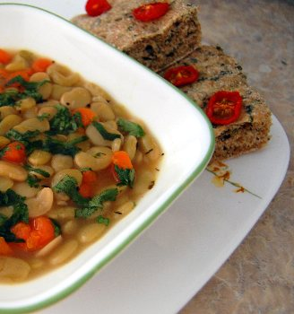 ... Course Soups, Stews and Chili Vegetable Luscious Lima Bean Soup