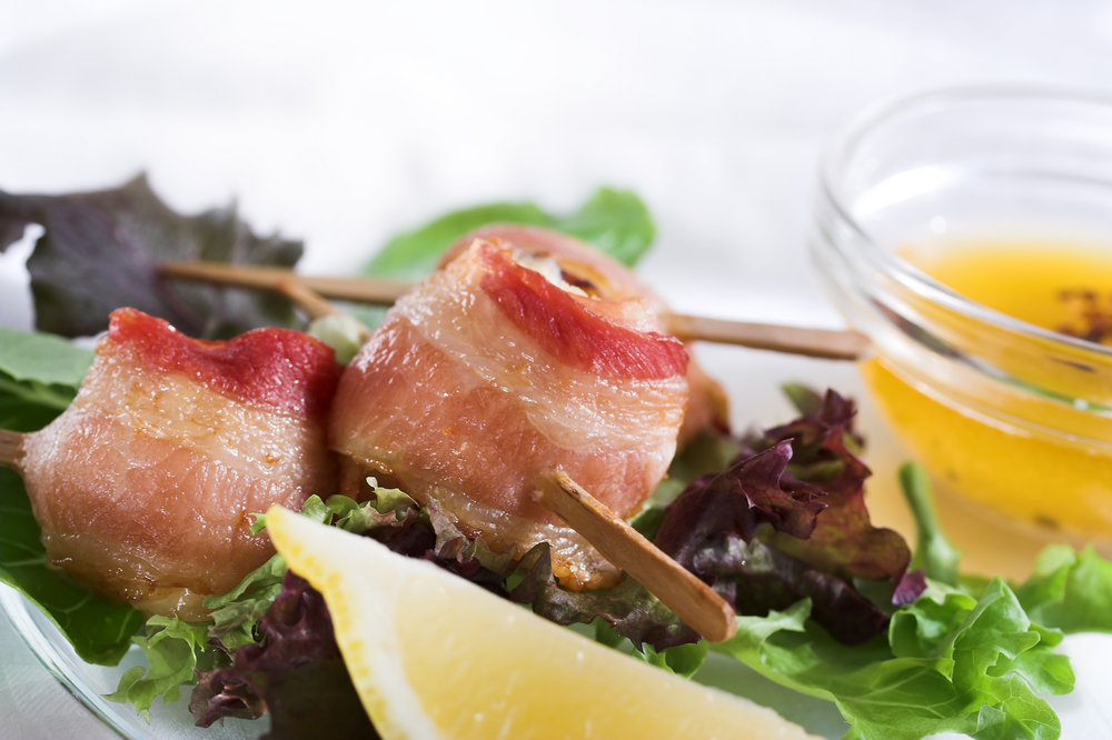 Scallops In Maple-Glazed Bacon Recipes — Dishmaps