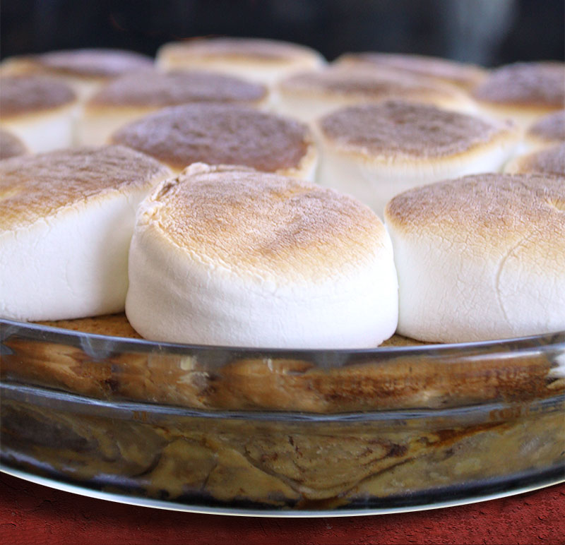 ... Pies Marshmallow Topped Sweet Potato Pie with Cinnamon Roll Crust