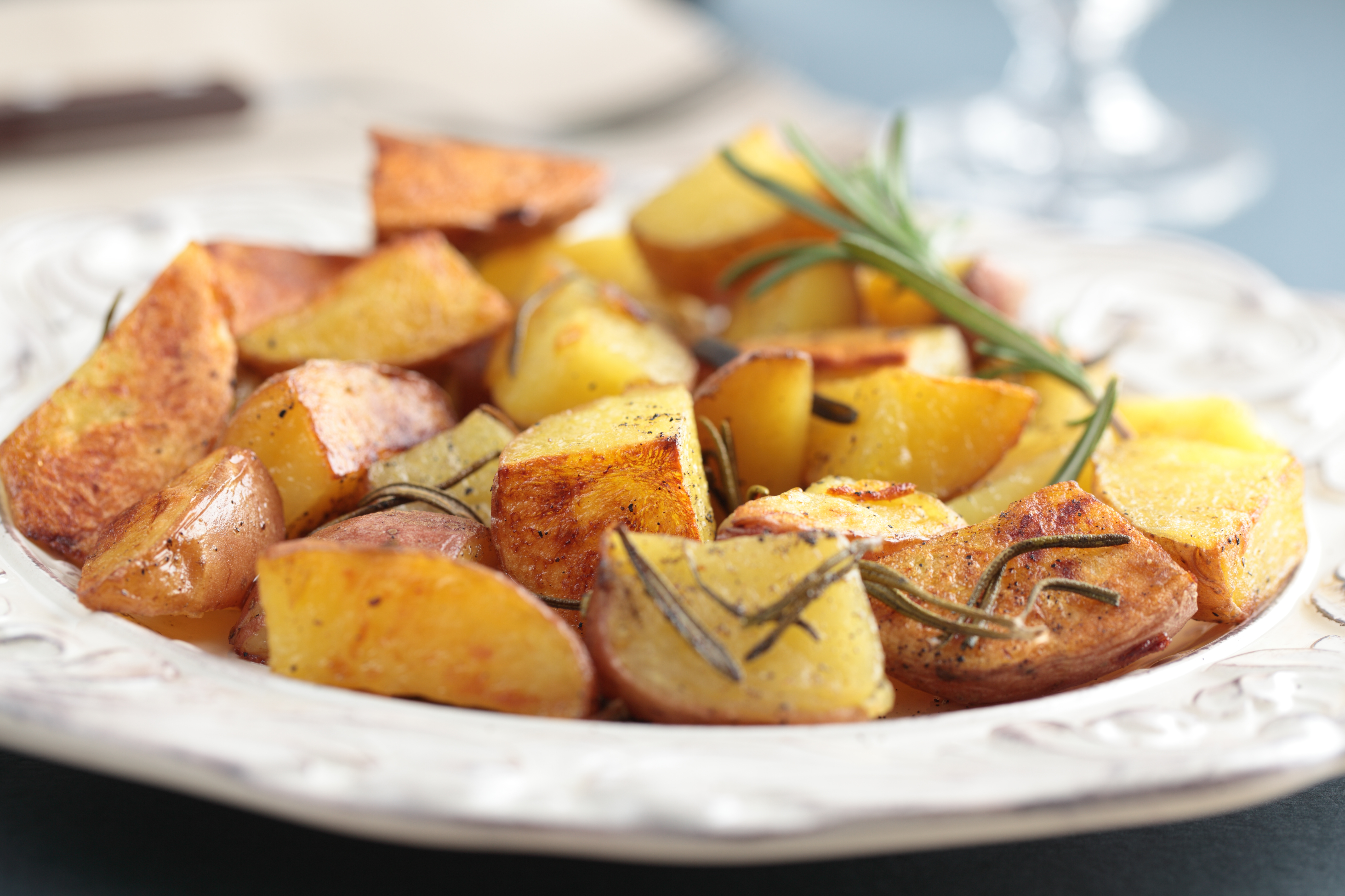 Recipes Course Side Dish Potatoes Oven Roasted Red Potatoes with ...
