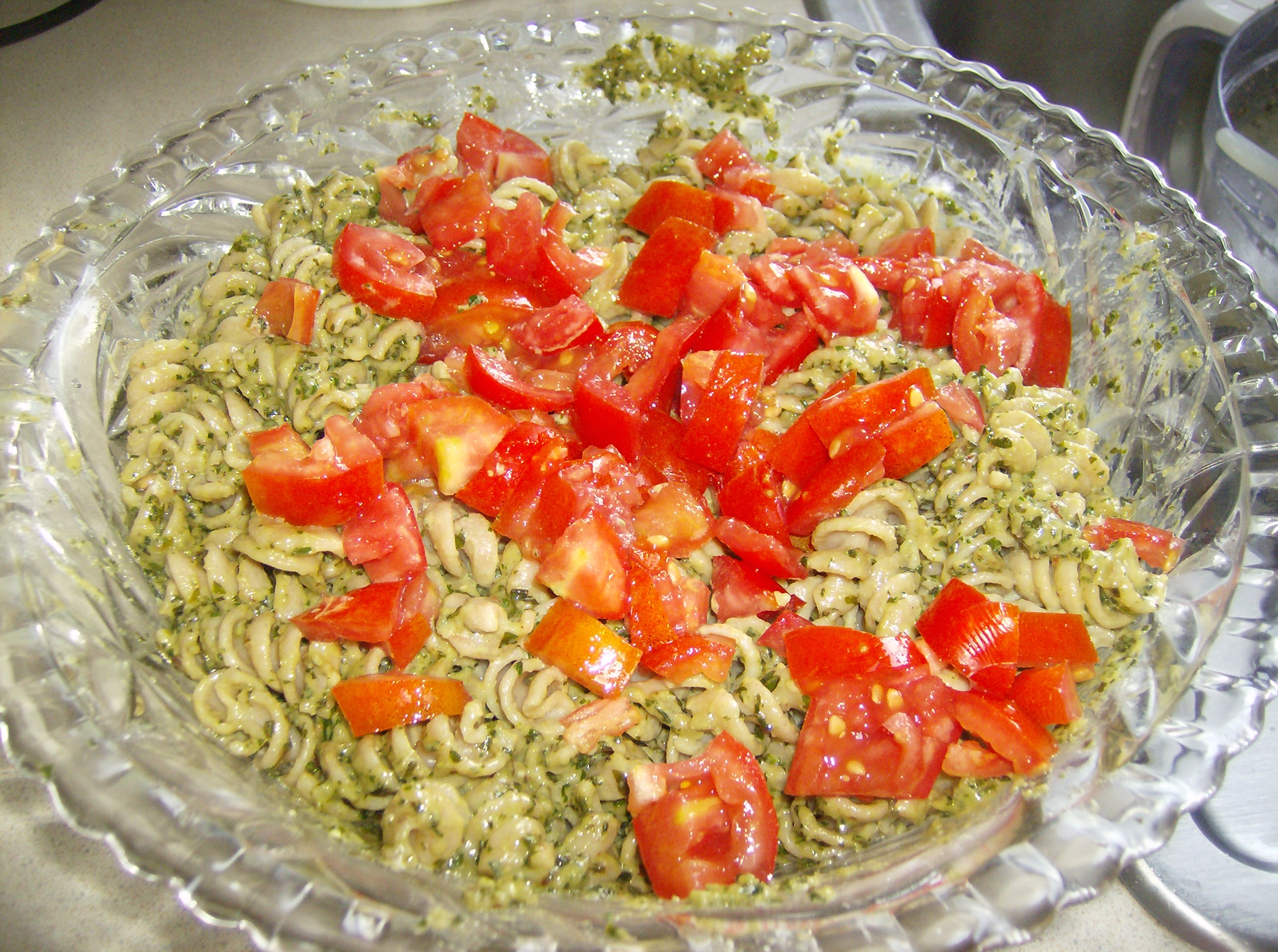 ... Course Side Dish Side Dish - Other Pasta with Pesto sauce and cream
