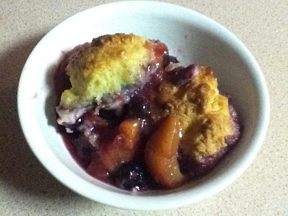 Recipes Course Desserts Cobblers Peach and Blueberry Cobbler