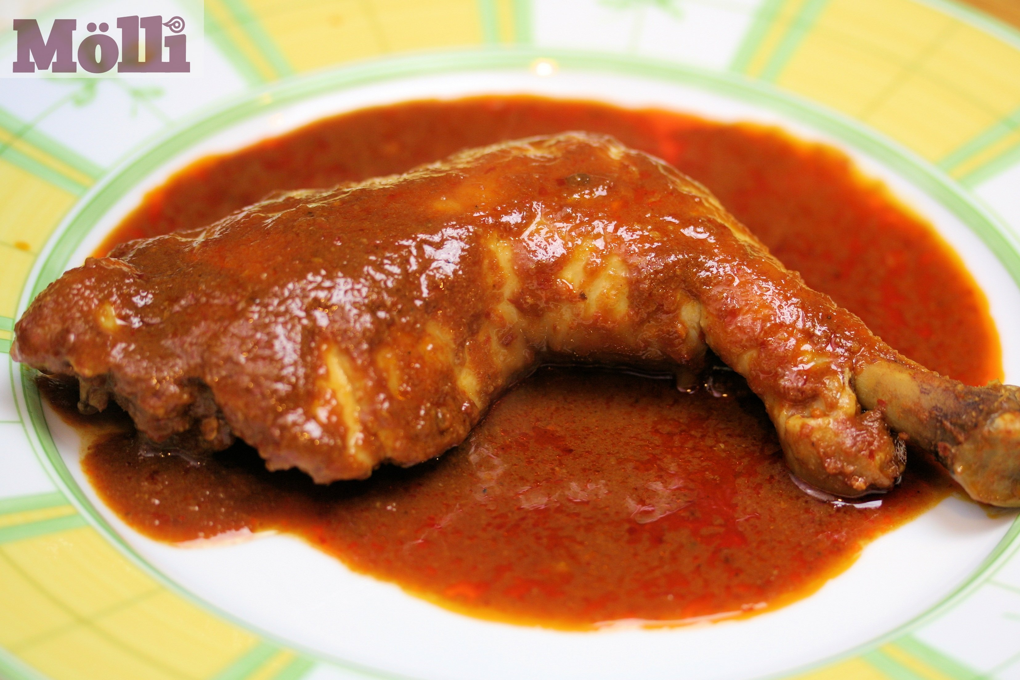 Pollo al ajillo (Chicken in chile-garlic sauce) - BigOven ...
