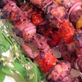 African Apricot Chicken Kebabs
