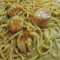 Angel Hair Pasta with Scallop Saute