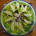 Apple Gorgonzola Salad with Spiced Walnuts