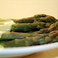 Asparagus with Blender Hollandaise Sauce