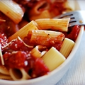 Aubergine Tomato Pasta
