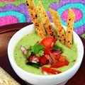 Avocado Cream Soup With Lime-Chili Tortilla Strips