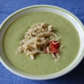Avocado Cucumber Soup with Crab
