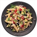 Avocado pasta salad with red pepper & feta cheese