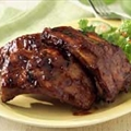 "Baby Back ""Steam Grilled"" Barbecue Ribs"