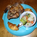 Bachelor Chow - Rotisserie Cornish Hen, Potatoes, Broccoli & Carrot Dinner