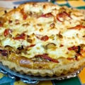 Bacon, Red Pepper and Cheese Herbed Tart