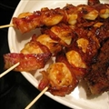 Bacon Wrapped Prawns with Chipotle Bbq Sauce