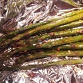 Baked Asparagus with Red Pepper Flakes