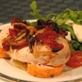 Baked Chicken with Rocket and Goats Cheese Salad