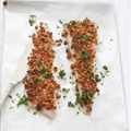 TasteMag: Baked Hake with Sundried Tomatoes and Parmesan Crust
