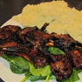 Baked Lamb Cutlets in Honey Sesame Marinade